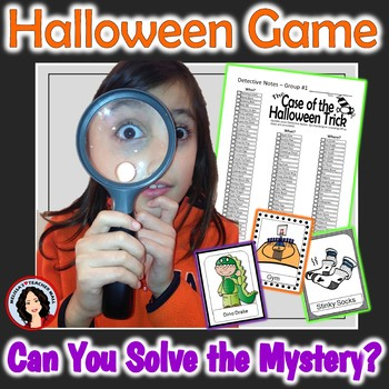 Halloween Game, Whole Class Mystery Clue Activity