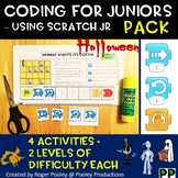 Halloween Coding PACK for Juniors – Using Scratch Jr, notes, answer key