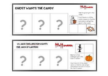 Halloween Coding for Kindergarten, teacher notes, 17pgs