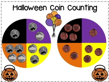 Halloween Coin Counting Freebie