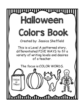 Halloween Color Books (5 differentiated)