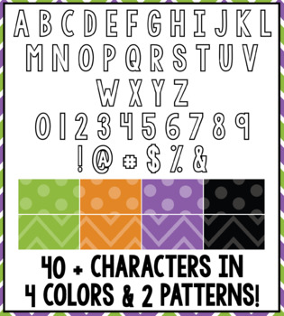 Halloween Color Bulletin Board Letters: 300+ Pages
