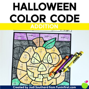 Halloween Color By Code - Addition
