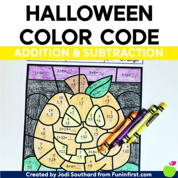 Halloween Color By Code - Addition and Subtraction Bundle