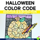 Halloween Addition and Subtraction Bundle - Color by Code