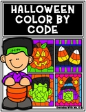Halloween Color By Code Color Me Spooky Coloring Pages