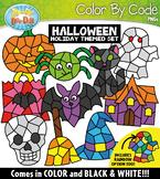 Halloween Color By Code Shapes Clipart {Zip-A-Dee-Doo-Dah Designs}