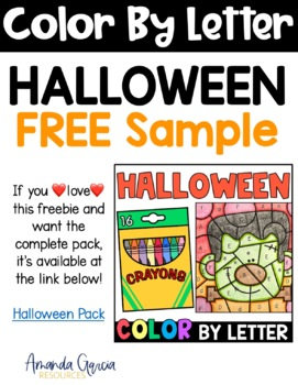 Halloween Color By Letter FREE