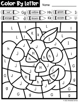 Halloween Color By Letter {PRINT & GO}