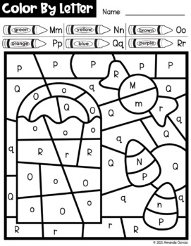 Halloween Color By Letter