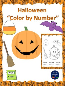 "Halloween ""Color By Number"""
