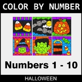 Halloween Color By Number 1 - 10