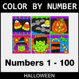 Halloween Color By Number 1 - 100