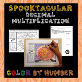 Halloween Color By Number (Multiplying Decimals)