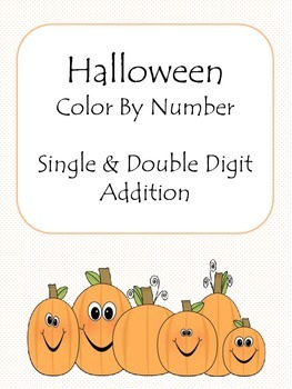 Halloween Color-By-Number (Addition)