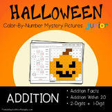 Adding Color By Number Halloween Math Number Art (Facts, Within 20 And 2-Digits)
