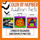 Halloween Math Color By Number Addition - October Activities