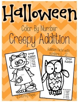 Halloween Color By Number - Creepy Addition