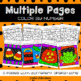 Halloween Color By Number Decimal Operations