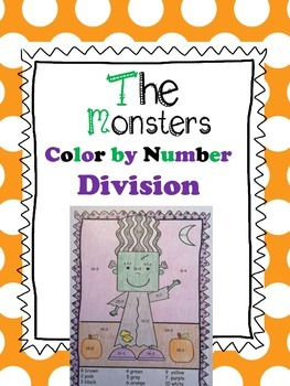 Halloween Color By Number Division