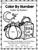 Halloween Color By Number {Dollar Up} {Special Education} {Math} {Money}