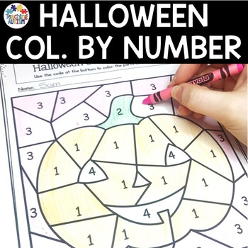 Halloween Activities - Color By Number / Colour by Number