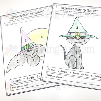 Halloween Coloring Pages - Color by Number