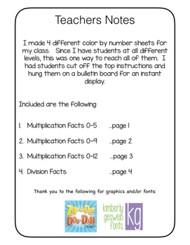 Halloween Color By Number-  Multiplication (3) Division (1) - Differentiated