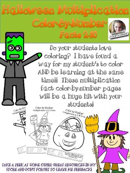 Halloween Color-By-Number Multiplication Facts