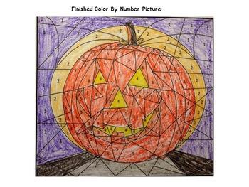 Halloween Color By Number (Multiplying Multi-Digit Numbers)