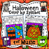 Halloween Color By Symbol  (Music)