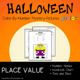 Halloween Place Value Coloring Sheet, Standard, Word Form, Counting Tens, Ones