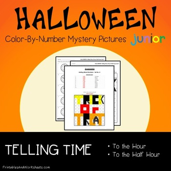 Color-By-Number Halloween: Telling Time the Hour / Telling