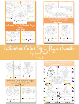 Halloween Color By ... Pages Bundle - 4 in 1