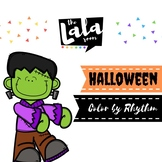 Halloween Color By Rhythm - Musical Coloring Sheets