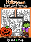 Wonders Halloween Color By Sight Word Pages
