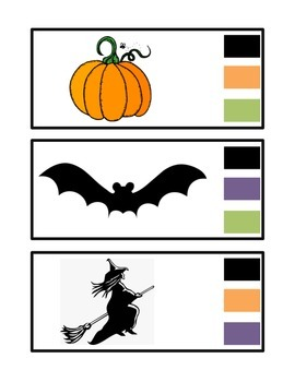 Halloween Color Clips