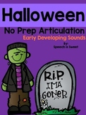 Halloween Articulation Activities: Early Developing Sounds