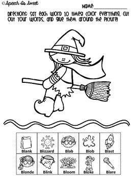 Halloween Articulation Activities: L-Blends