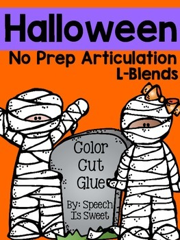 Halloween Articulation Activities: L-Blends