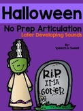 Halloween Articulation Activities: Later Developing Sounds