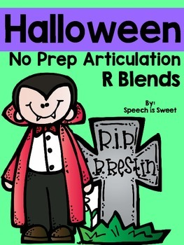 Halloween Articulation Activities: R-Blends
