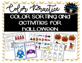 Halloween Color Matching, Sorting, and Learning!