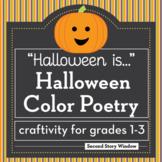 Halloween Activity • Halloween Color Poetry Writing
