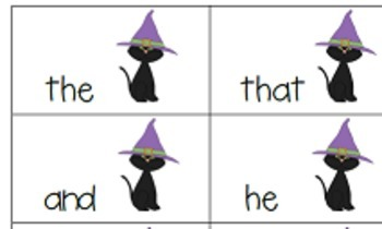 Halloween Sight Words Game and Book