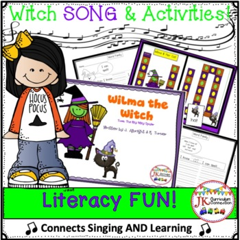 Halloween Color Song - Wilma the Witch - Literacy Pack