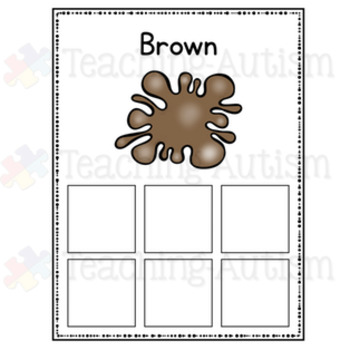 Halloween Color Sorting Cards Colour