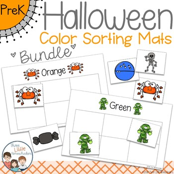 Halloween Color Sorting Mats - BUNDLE