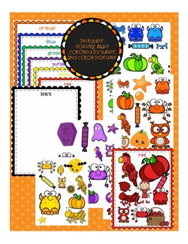 Halloween Color Sorting and Posters Toddler and Preschool