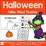 Halloween Color Word Practice- Emergent Reader, Vocab, Practice